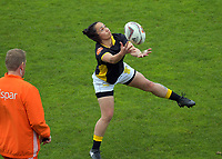 Acacia Te Iwimate takes a catch during the Farah Palmer Cup women's provincial rugby match between Wellington Pride  and Auckland at Jerry Collins Stadium / Porirua Park, Wellington, New Zealand on Saturday, 23 September 2017. Photo: Dave Lintott / lintottphoto.co.nz