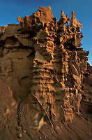 746000027 strange sandstone formations stand watch over the landscape in fantasy canyon a blm property in the middle of a working oil field in northeastern utah united states
