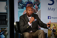 Washington, DC - May 17, 2016: Craig Robinson, ESPN analyst and brother of Michelle Obama, participates in a discussion with the first lady about youth athletics during the Apsen Institute's 2016 Project Play Summit at the Newseum in the District of Columbia, May 17, 2016. The discussion was moderated by ESPN's Michael Wilbon.  (Photo by Don Baxter/Media Images International)