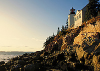 Bass Harbor Lighthouse at sunset