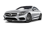 Stock pictures of low aggressive front three quarter view of 2017 Mercedes Benz S-Class - 2 Door Coupe Low Aggressive