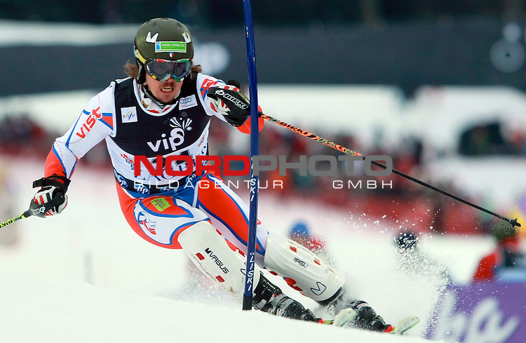 06.01.2011., Sljeme, Zagreb, Croatia - FIS Ski World Cup, Snow Queen Trophy, men slalom race, 1st run.<br /> Ondrej Bank.<br />                                                                                                   Foto:   nph / PIXSELL