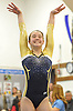 Amanda Ferraro of Bethpage begins her floor routine during a Nassau County varsity gymnastics meet against Massapequa at Jamaica Avenue School in Plainview on Wednesday, Dec. 21, 2016.