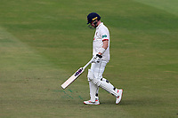 Sam Cook of Essex leaves the field having been dismissed for 4 during Warwickshire CCC vs Essex CCC, Specsavers County Championship Division 1 Cricket at Edgbaston Stadium on 12th September 2019