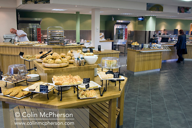 An interior view of the cafe at  Grosvenor Garden Centre at Belgrave near Chester, photographed as part of the Cheshire Food Trail.