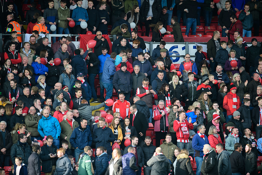 Lincoln City fans enjoy the pre-match atmosphere<br /> <br /> Photographer Chris Vaughan/CameraSport<br /> <br /> The EFL Sky Bet League Two - Lincoln City v Mansfield Town - Saturday 24th November 2018 - Sincil Bank - Lincoln<br /> <br /> World Copyright © 2018 CameraSport. All rights reserved. 43 Linden Ave. Countesthorpe. Leicester. England. LE8 5PG - Tel: +44 (0) 116 277 4147 - admin@camerasport.com - www.camerasport.com