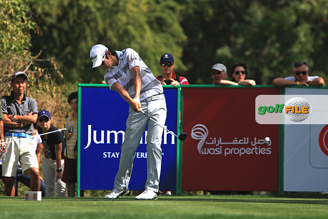 Seung-yul Noh (KOR) tees off on the 14th tee during Saturday's  Round 3 of the 2012 Omega Dubai Desert Classic at Emirates Golf Club Majlis Course, Dubai, United Arab Emirates, 11th February 2012(Photo Eoin Clarke/www.golffile.ie)