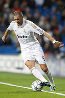 22.11.2011 UEFA Champios League. Group D. Santoago Bernabeu Stadium. Madrid Spain Real Madrid vs GNK Dinamo. Picture show Karim Benzema