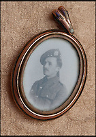 BNPS.co.uk (01202 558833)<br /> Pic: MaureenRogers/BNPS<br /> <br /> ***Please Use Full Byline***<br /> <br /> George Cavan.<br /> <br /> A soldier's desperate bid to say goodbye to his family by folding a letter into a matchbox and throwing it out of a moving train as it passed his home town has come to light after 97 years.<br /> <br /> Sergeant Major George Cavan and his unit were called to the Western Front from their Scottish base at such short notice they didn't have time to write to their loved ones to tell them.<br /> <br /> His story along with the poignant note has now emerged.