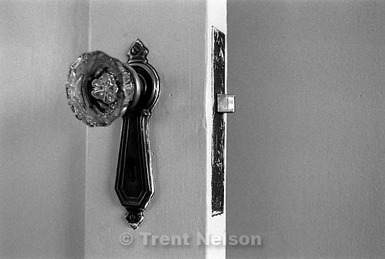 Doorknob in the Robinson house<br />