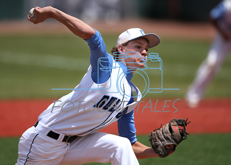Centennial's Hayden Rosenkrantz pitches against Galena during NIAA DI baseball action at Bishop Manogue High School in Reno, Nev., on Thursday, May 19, 2016. Cathleen Allison/Las Vegas Review-Journal