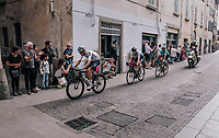 Wout Poels (NED/SKY) leading the breakaway group during the local lap in Iseo<br /> <br /> stage 17: Riva del Garda - Iseo (155 km)<br /> 101th Giro d'Italia 2018