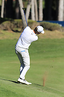 Thomas Pieters (BEL) plays his 2nd shot on the 5th hole during Saturday's Round 3 of the 2018 Turkish Airlines Open hosted by Regnum Carya Golf &amp; Spa Resort, Antalya, Turkey. 3rd November 2018.<br /> Picture: Eoin Clarke | Golffile<br /> <br /> <br /> All photos usage must carry mandatory copyright credit (&copy; Golffile | Eoin Clarke)