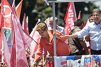 CONTAGEM, MG, 11.10.2014 – ELEIÇÕES 2014 – PRESIDENTE DILMA ROUSSEFF - Presidente Dilma Rousseff e o candidato eleito ao Governador de Minas Gerais Fernando Pimentel em campanha, no centro de Contagem - MG , na manha deste Sabado (11) (Foto: MARCOS FIALHO / BRAZIL PHOTO PRESS)