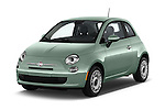 2016 Fiat 500 Pop 3 Door Hatchback Angular Front stock photos of front three quarter view