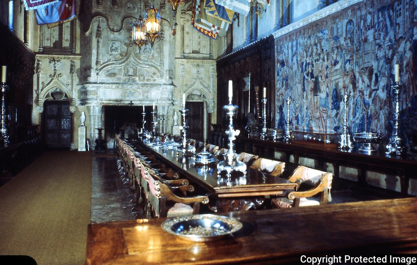 Hearst Castle: Dining Hall.   (Finley-Holiday Films)