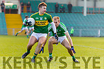 James O'Donoghue Kerry in action against Sean O'Dea Limerick in the Final of the McGrath Cup at the Gaelic Grounds on Sunday.