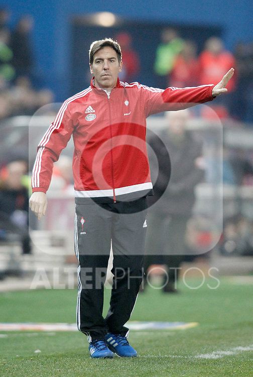 Celta de Vigo's coach Eduardo Berizzo during Spanish Kings Cup match. January 27,2016. (ALTERPHOTOS/Acero)