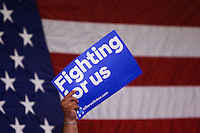 NEWARK, NJ - JUNE 01 : A supporter of U.S. Democratic presidential candidate Hillary Clinton attends a rally on June 01, 2016 in Newark, New Jersey. Hillary Clinton only needs 73 delegates to clinch the party's nomination. on June 7 New Jersey will hold its primary elections, a state that will be awarding 142 total Democratic delegates. Photo by VIEWpress