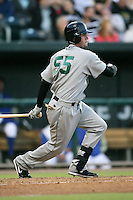 April 17, 2009:  Outfielder Brent Johnson (55) of the West Tenn Diamond Jaxx, Southern League Class-AA affiliate of the Seattle Mariners, during a game at the Baseball Grounds of Jacksonville in Jacksonville, FL.  Photo by:  Mike Janes/Four Seam Images