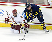 Steven Whitney (BC - 21), Kyle Bigos (Merrimack - 3) - The Boston College Eagles defeated the Merrimack College Warriors 4-3 on Friday, October 30, 2009, at Conte Forum in Chestnut Hill, Massachusetts.