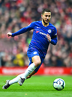 Chelsea's Eden Hazard in action<br /> <br /> Photographer Richard Martin-Roberts/CameraSport<br /> <br /> The Premier League - Liverpool v Chelsea - Sunday 14th April 2019 - Anfield - Liverpool<br /> <br /> World Copyright © 2019 CameraSport. All rights reserved. 43 Linden Ave. Countesthorpe. Leicester. England. LE8 5PG - Tel: +44 (0) 116 277 4147 - admin@camerasport.com - www.camerasport.com
