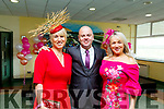 Aine Wall (Derrymore), Ray Stack (Ballyheigue) and Margaret O'Halloran (Ballyheigue) attending the Listowel Races on Sunday.