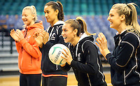 09.10.2016 Silver Ferns Grace Rasmussen in action during training at the Silver Dome in Launceston in Australia. Mandatory Photo Credit ©Michael Bradley.