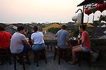 Rooftop bar at sunset. Hoi An, Vietnam. April 15, 2016.