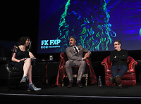 "HOLLYWOOD - MAY 22: (L-R) Moderator Kristen Schaal, Executive Producer/Director Taika Waititi, and Executive Producer/Writer Paul Simms attend FX's ""What We Do in the Shadows"" FYC event at Avalon Hollywood on May 22, 2019 in Hollywood, California. (Photo by Frank Micelotta/FX/PictureGroup)"