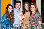 Aoife Dunne, Diarmuid O'Riordan, Clara Healy and Gillian Buckley, pictured at Sickly Come Dancing, UHK, at Ballygarry House Hotel & Spa, Tralee on Friday night last.