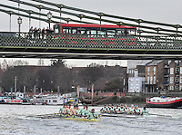 2017 Boat Race Trials<br /> <br /> Womens Trial VIII's for 72nd Women's University Boat Race, sponsored by Newton,held on the Championship Course from Putney to Mortlake, Monday 12 December 2016.<br /> <br /> CUWBC Trial VIII's between NEEDS on Surrey in the Yellow Boat and HALLAM on Middlesex in the White Boat<br /> <br /> HALLAM, Bow, Brittany Preston, 2, Fanny Belais, 3, Ashton Brown, 4, Kirsten van Fossen, 5, Lucy Pike, 6, Melissa Wilson, 7, Holly Hill, Stroke, Alice White, Cox, Matthew Holland.<br /> <br /> NEEDS Bow, Tricia Smith, 2, Emma Andrews, 3, Paula Wulff, 4, Oonagh Cousins, 5, Claire Lambe, 6, Anna Dawson, 7, Myriam Goudet, Stroke, Imogen Grant, Cox, Evie Lindsay.