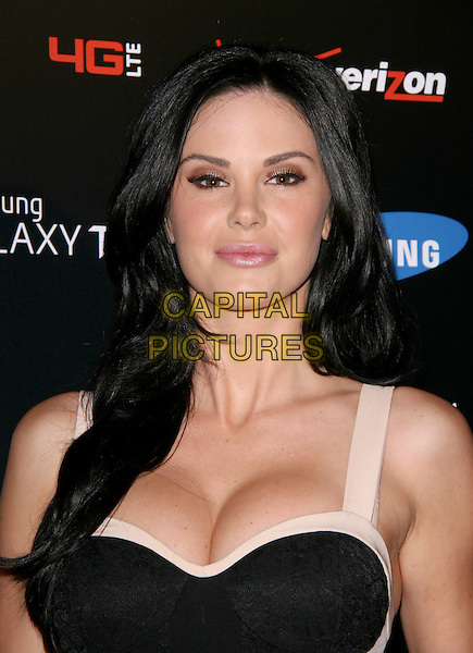 Jayde Nicole.Samsung Galaxy Tab Launch Event Hosted by Samsung and Verizon held at The Beverly, West Hollywood, California, USA..August 2nd, 2011.headshot portrait black white cleavage                                    .CAP/RKE/DVS.©DVS/RockinExposures/Capital Pictures.