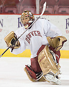 Peter Mannino - Reigning national champions (2004 and 2005) University of Denver Pioneers practice on Friday morning, December 30, 2005 before hosting the Denver Cup at Magness Arena in Denver, CO.