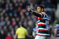 Manu Tuilagi of Leicester Tigers. European Rugby Champions Cup match, between Leicester Tigers and Munster Rugby on December 17, 2016 at Welford Road in Leicester, England. Photo by: Patrick Khachfe / JMP