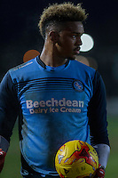 Jamal Blackman of Wycombe Wanderers ahead of the Sky Bet League 2 match between Newport County and Wycombe Wanderers at Rodney Parade, Newport, Wales on 22 November 2016. Photo by Mark  Hawkins.