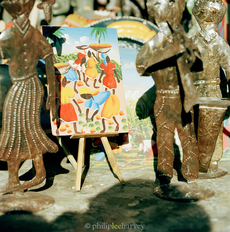 Sculptures and paintings for sale in Port-Au-Prince, Haiti