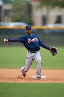 Atlanta Braves Luis Ovando (23) during practice before a Minor League Spring Training game against the New York Yankees on March 12, 2019 at New York Yankees Minor League Complex in Tampa, Florida.  (Mike Janes/Four Seam Images)
