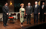 Anthony LaPaglia, Kathryn Erbe, Kevin O'Rourke, John Ottavino & Mark Shanahan during the Curtain Call for the Opening Celebration of 'Checkers' at the Vineyard Theatre in New York City on 11/11/2012