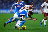 29th February 2020; Stadio San Paolo, Naples, Campania, Italy; Serie A Football, Napoli versus Torino; Giovanni Di Lorenzo of Napoli challenges Cristian Ansaldi of Torino FC