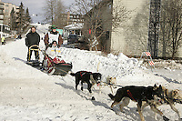 Blake Freking in Anchorage on Saturday March 1st during the ceremonial start day of the 2008 Iidtarod Sled Dog Race.