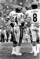 Chicago Bears great Walter Payton along with QB Vince Evans..(1981 photo/Ron Riesterer)