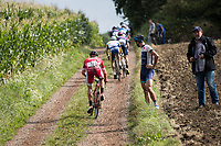 #13 Florian S&eacute;n&eacute;chal (FRA/Cofidis) over a muddy gravel section<br /> <br /> Dwars door het Hageland (1.1)<br /> 1 Day Race: Aarschot &gt; Diest (194km)