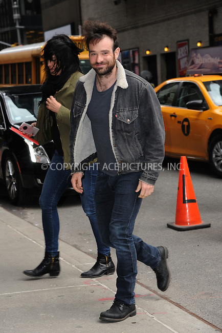 WWW.ACEPIXS.COM <br /> March 30, 2015 New York City<br /> <br /> Charlie Cox arrives to tape an appearance on the Late Show with David Letterman on March 30, 2015 in New York City.<br /> <br /> Please byline: Kristin Callahan/ACE Pictures  <br /> <br /> ACEPIXS.COM<br /> Ace Pictures, Inc<br /> tel: (212) 243 8787 or (646) 769 0430<br /> e-mail: info@acepixs.com<br /> web: http://www.acepixs.com