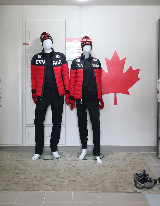 Pyeongchang, Korea, 7march2018-Athletes Village Team branding
