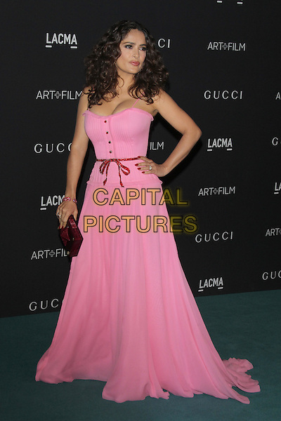 LOS ANGELES, CA - NOVEMBER 7: Salma Hayek at the LACMA Art + Film Gala honoring Alejandro G. I&ntilde;&aacute;rritu and James Turrell and presented by Gucci at LACMA on November 7, 2015 in Los Angeles, California. <br /> CAP/MPI27<br /> &copy;MPI27/Capital Pictures
