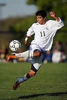 Men's Soccer action