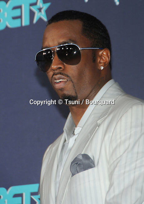 Puff Daddy Comb  backstage at the BET Awards at the Shrine Auditorium  In Los Angeles. . June 27, 2006.
