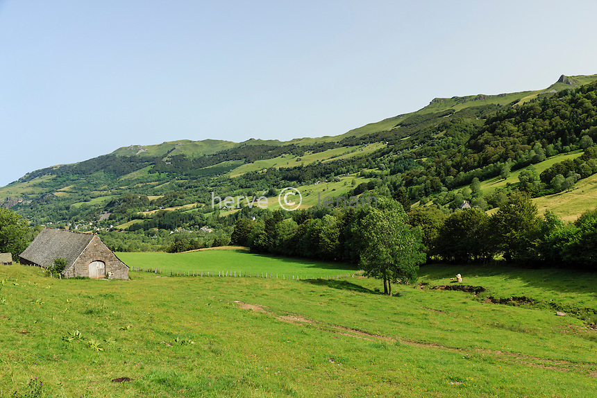 France, Cantal (15), vallée du Mars, le Falgoux // France, Cantal, Mars valley, the Falgoux