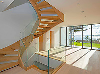BNPS.co.uk (01202 558833)<br /> Pic: LillicrapChilcott/BNPS<br /> <br /> Blank canvas inside...<br /> <br /> A brand new futuristic property perched right on the edge of a sea wall overlooking some of the finest sailing waters in the country has gone up for sale for £4.5m.<br /> <br /> The ultra-modern home and just been built on remote headland in the Cornish sailing village of St Just.<br /> <br /> It replaced a large bungalow that stood on the coastal plot for over 80 years and was demolished by owner and architect Callum Wason.